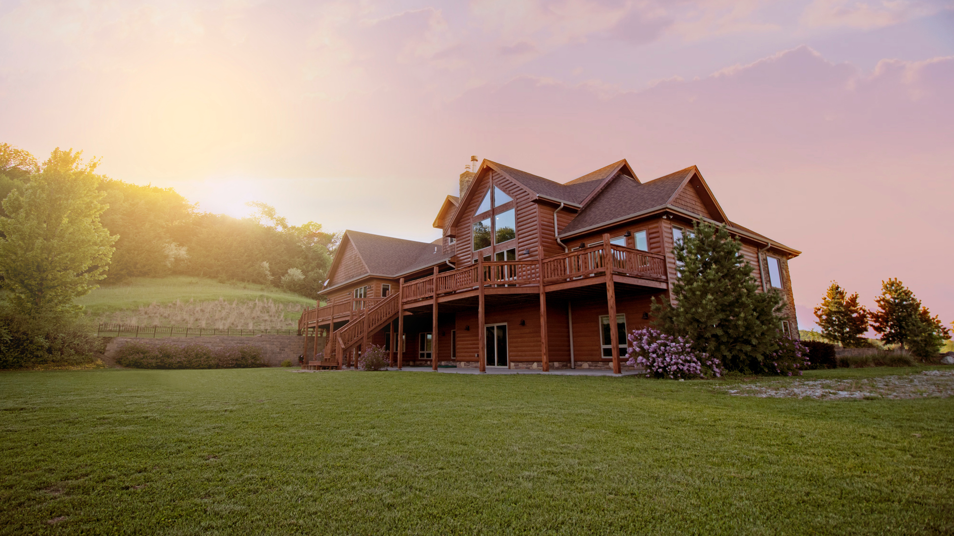 Beautiful Wooden Home in a field